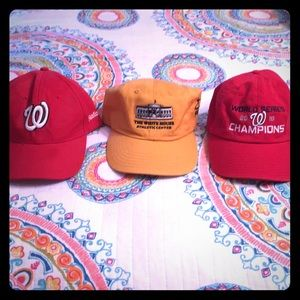 Three brand new hats — Nationals and White House